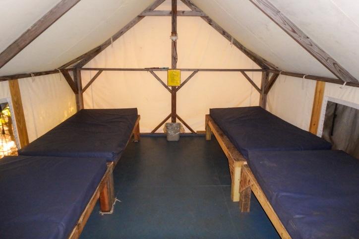 Twin cabin beds side by side