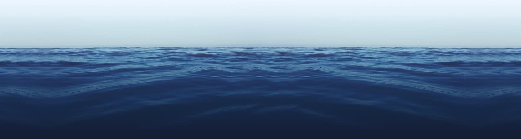 calm deep blue water